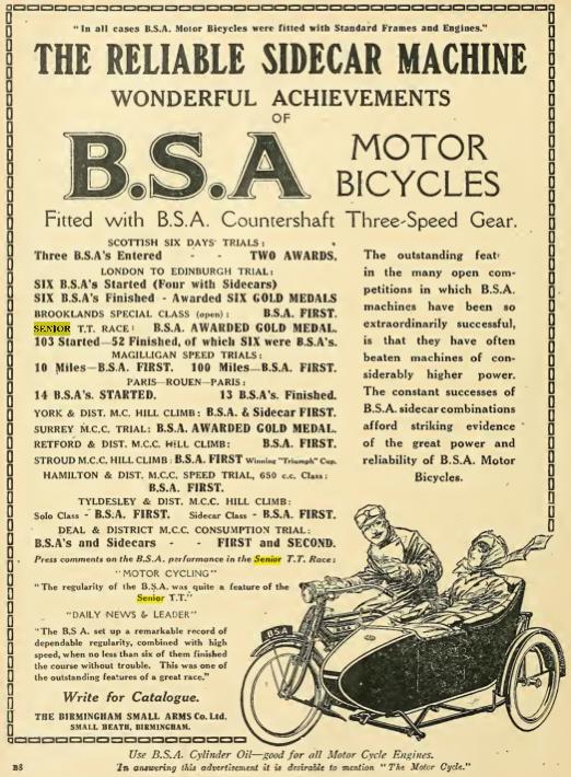 1914 BSA AD