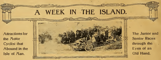 1920 TT WEEK IN THE ISLAND AW