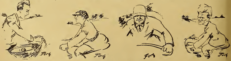 1921 BELGIAN GP CARICATURES