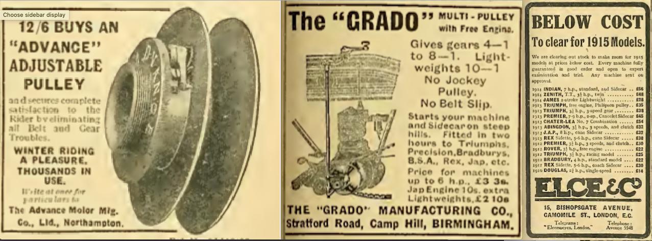 1914 BATCH B ADS