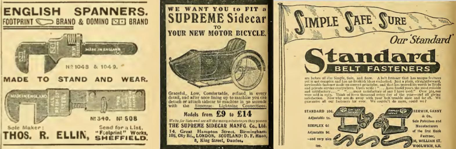 1914 BATCH C ADS
