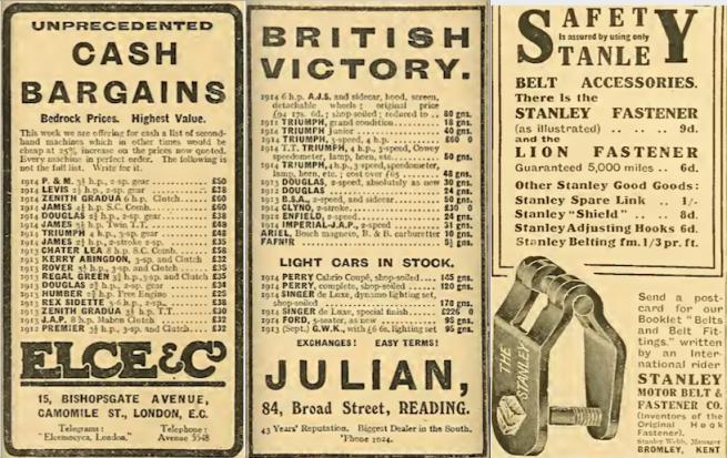 1914 BATCH E ADS