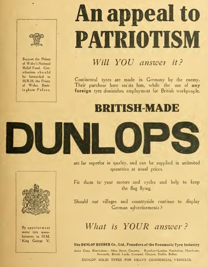 1914 DUNLOP AD