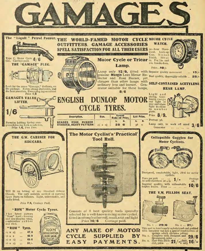 1914 GAMAGES AD