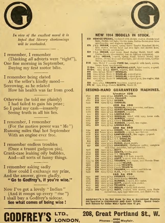 1914 GODFREYS AD