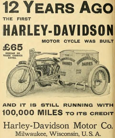 1914 HARLEY AD