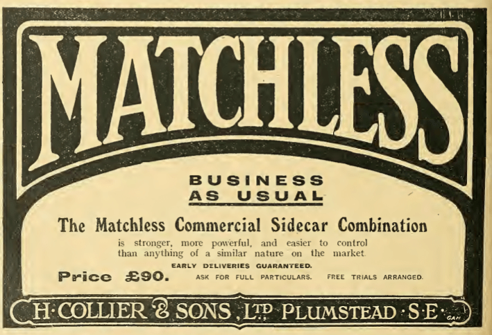 1914 MATCHLESS AD