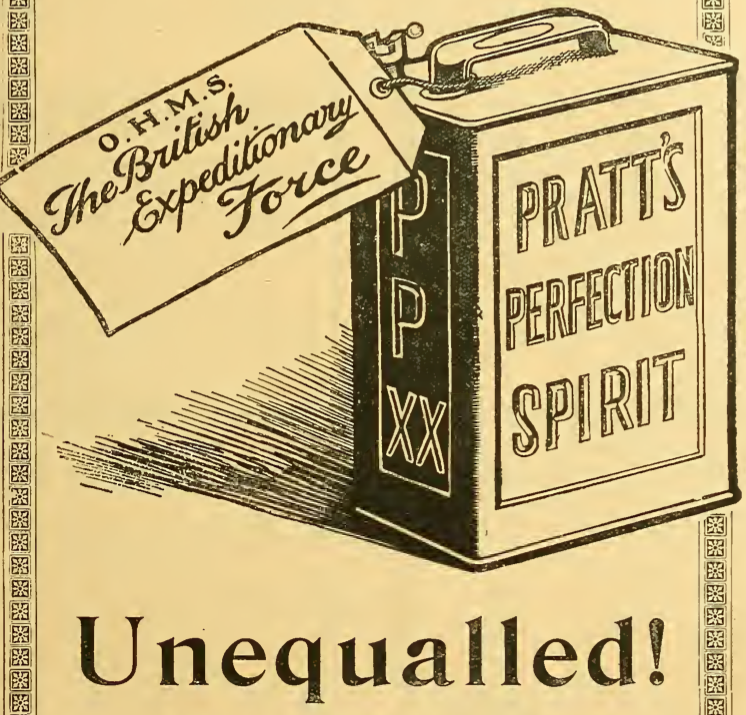 1914 PRATTS AD