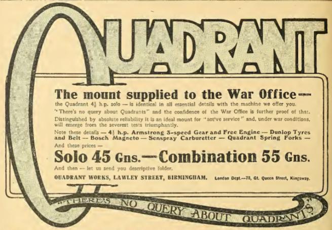 1914 QUADRANT AD
