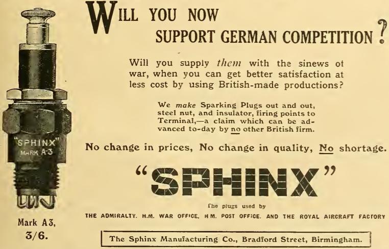1914 SPHINXPLUG AD