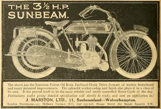 1914 SUNBEAM AD