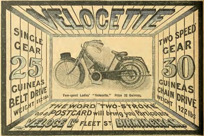 1914 VELOCETTE AD