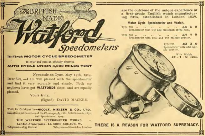 1914 WATFORD AD