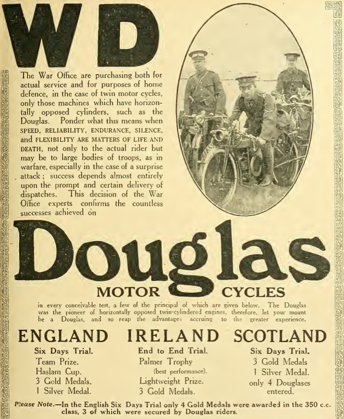 1914 WD DOUGLAS AD