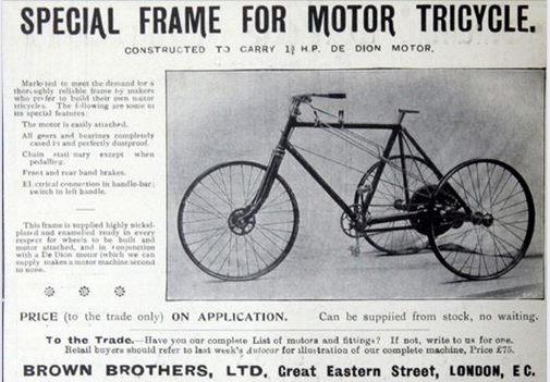 1899 BROWN TRIKE AD