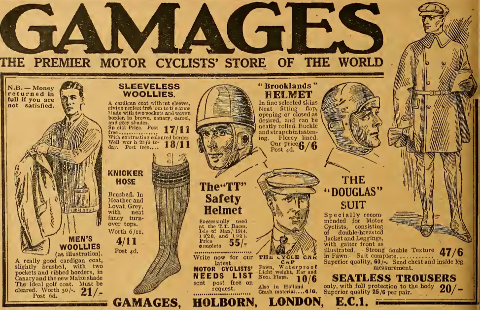 1921 GAMAGES AD