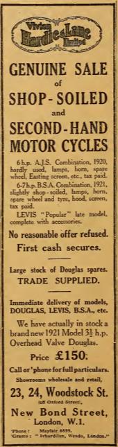 1921 HARDIE AD