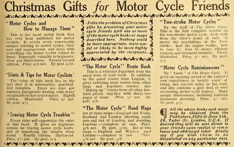 1921 XMAS GIFTS AD