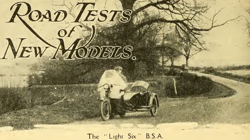 1922 BSA LIGHT6 RT AW