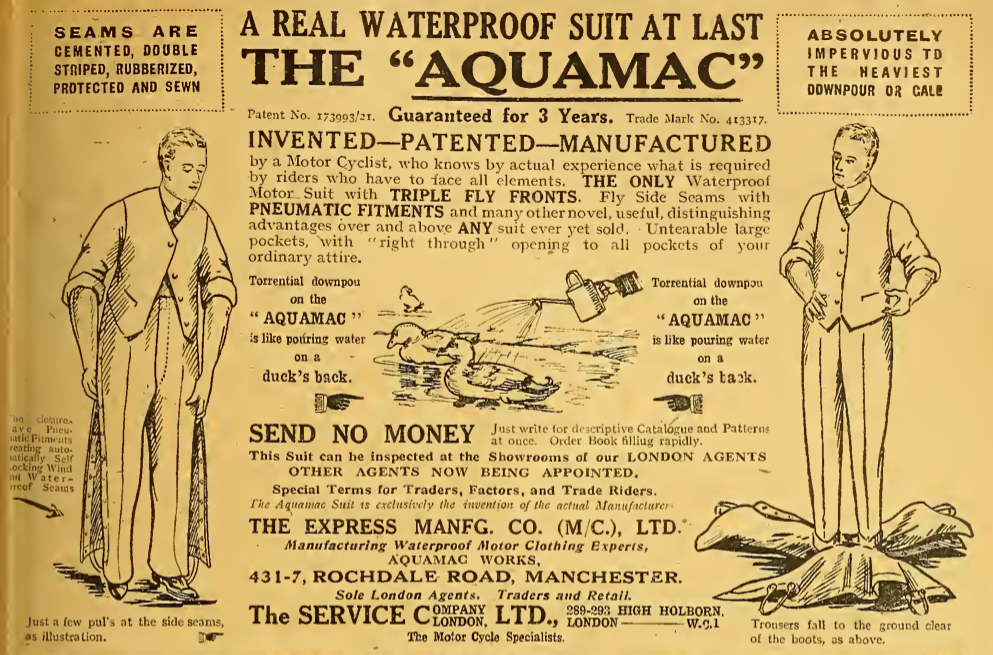 1922 AQUAMAC AD