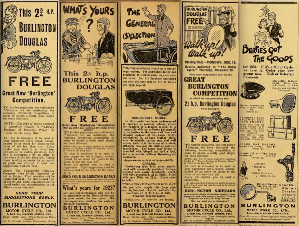 1922 BURLINGTON AD 6