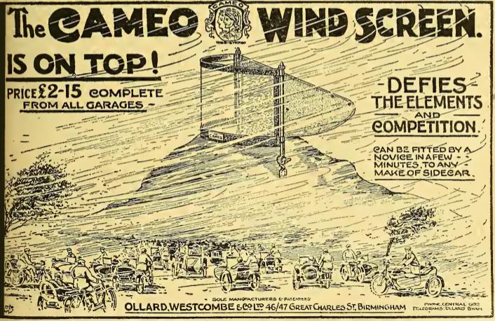 1922 CAMEO SCREEN AD