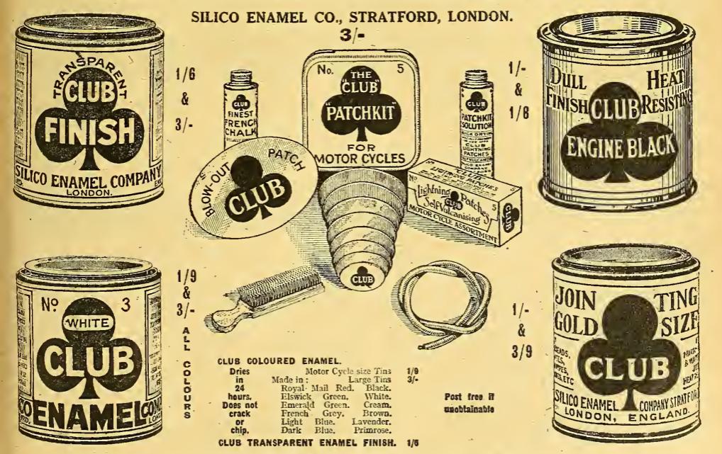 1922 CLUB PAINT AD