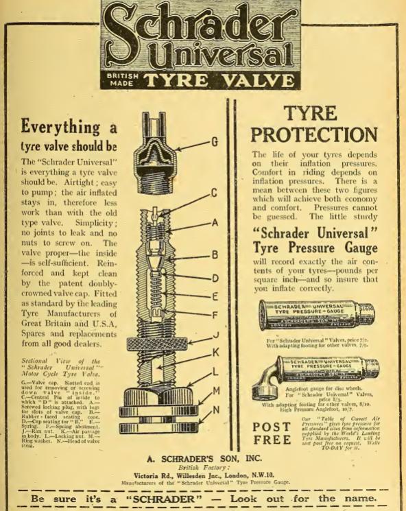 1922 SCHRADER AD