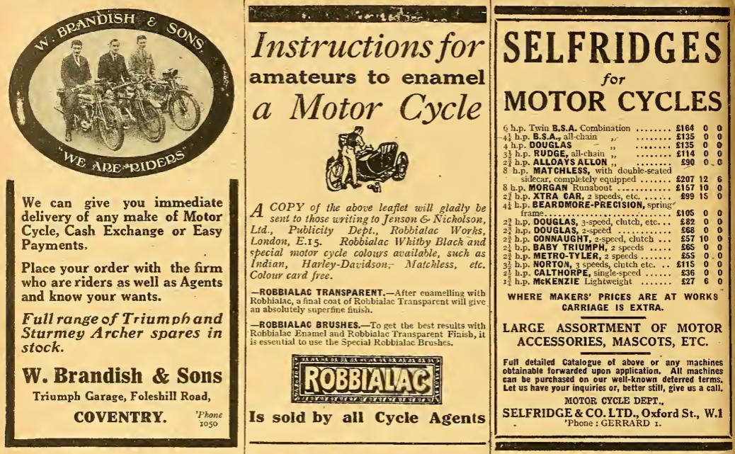 1922 THREE ADS