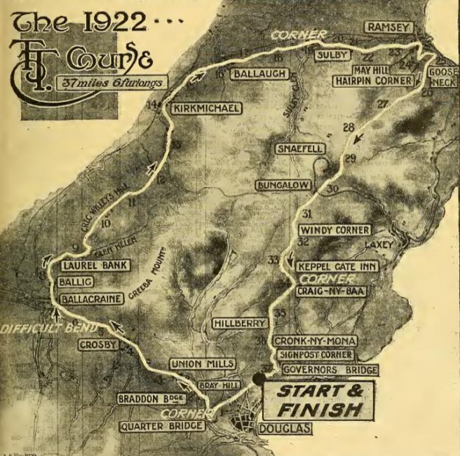 1922 TT COURSE AW