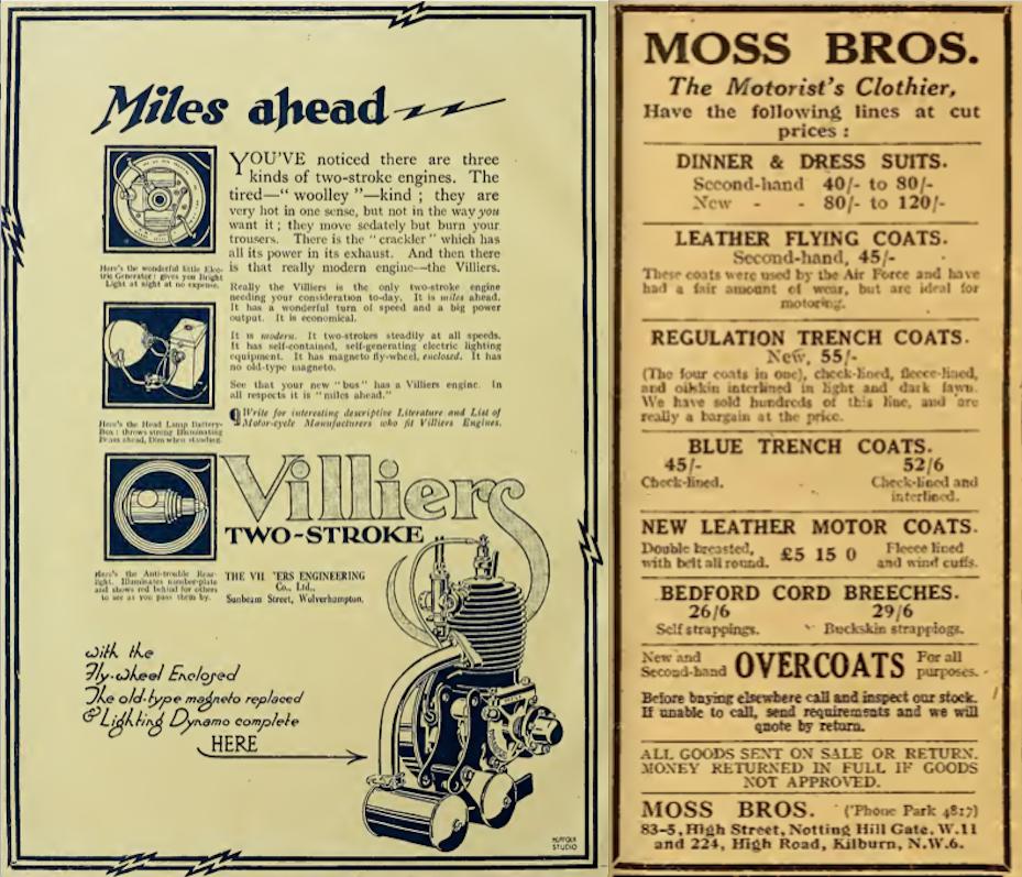 1922 VILLMOSS ADS