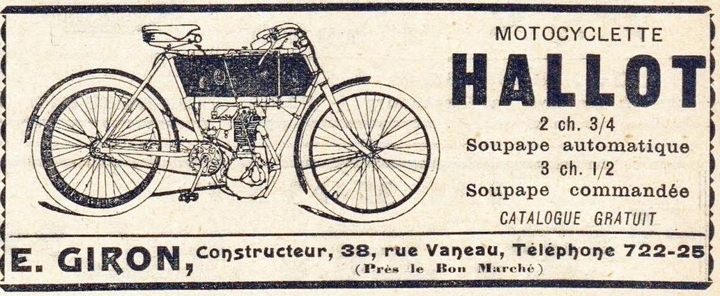 1905 HALLOT AD