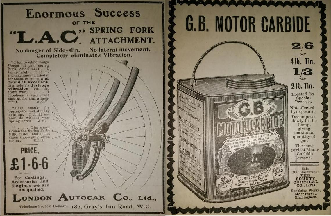 1905 LAC-CARBIDE ADS