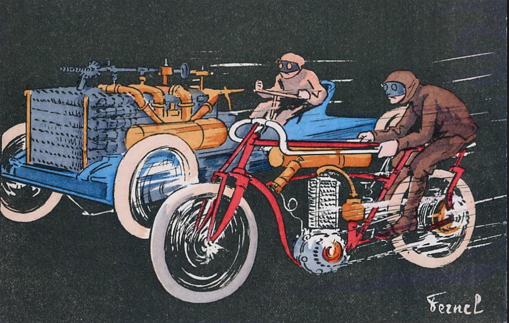 1900s RACE POSTCARD