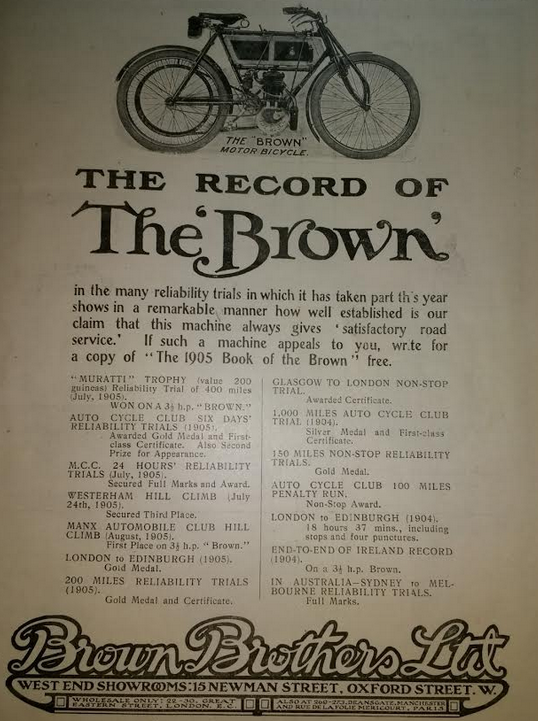 1905 BROWN AD