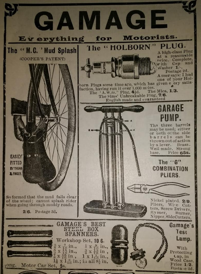 1905 GAMAGES AD