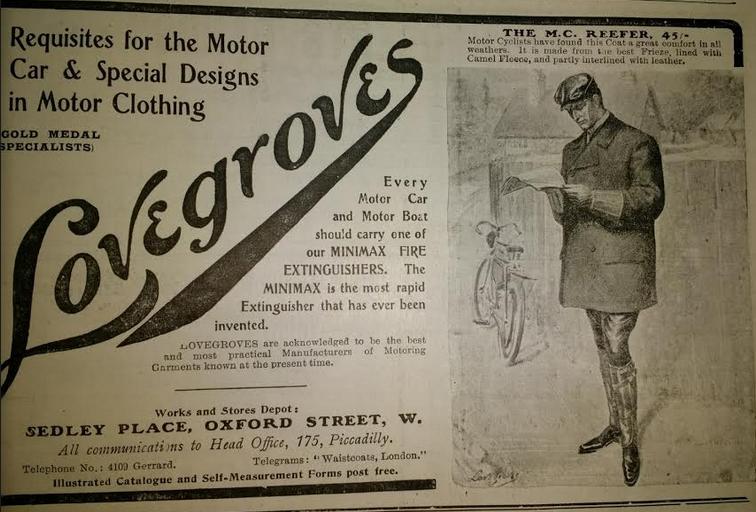 1905 LOVEGROVES AD