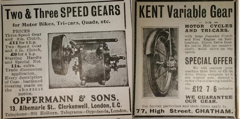 1905 OPPERMAN-KENT ADS