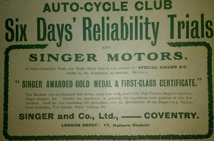 1905 SINGER AD