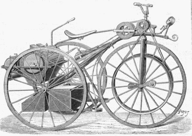 1882 PERREAUX STEAMER