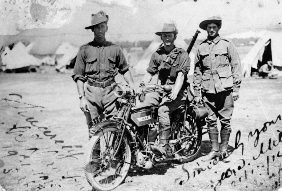 WW1 1915 5TH OZ LT HORSE