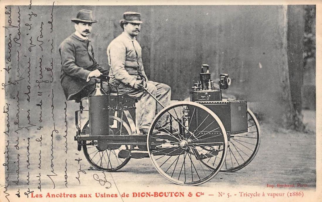 1886 DE DION STEAMER